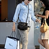 Jennifer Garner shopped at Ron Herman in Brentwood on Friday.