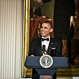 President Barack Obama delivered a speech ahead of the reception.