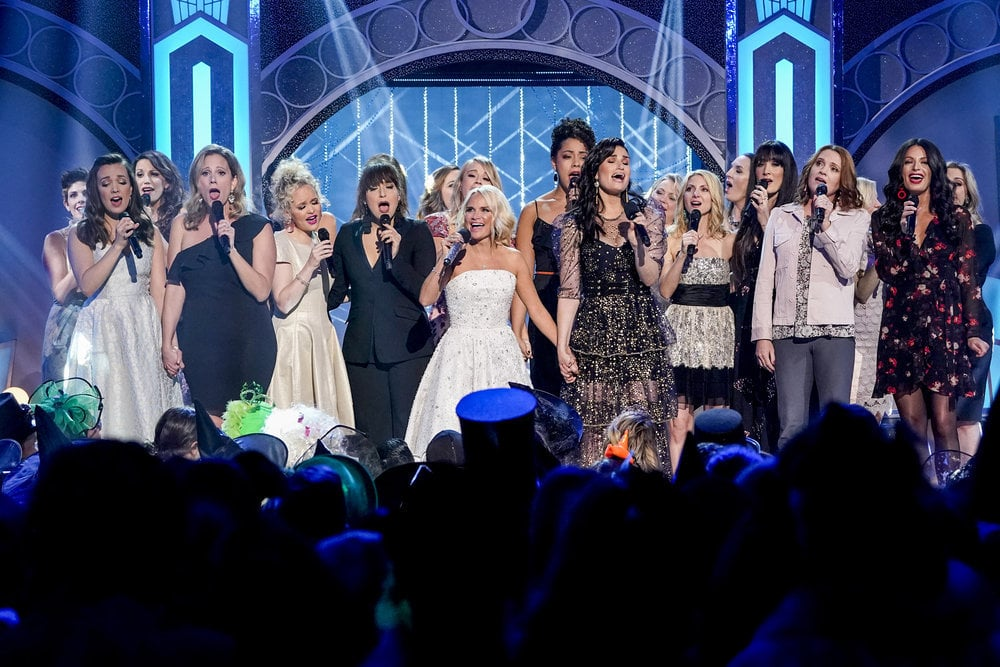 "NBC celebrated Wicked's 15th anniversary with a Halloween special on Monday night, and it was nothing short of emotional. Not only did the special include some star-studded performances — including Ariana Grande's rendition of ""The Wizard and I"" — but it also featured a few very special Wicked reunions. After Idina Menzel and Kristin Chenoweth finished cohosting the special, they ended the night on a high note by bringing out their fellow Elphabas and Glindas to sing the musical's final number, ""For Good."" As the ladies held hands on stage and sang about sisterhood and friendship, it was hard not to shed a few tears . . . OK, a lot of tears! Even Chenoweth got a little choked up during the performance. See the endearing moment ahead.       Related:                                                                                                           Idina Menzel and Kristin Chenoweth's Wickedly Sweet Friendship in Pictures"