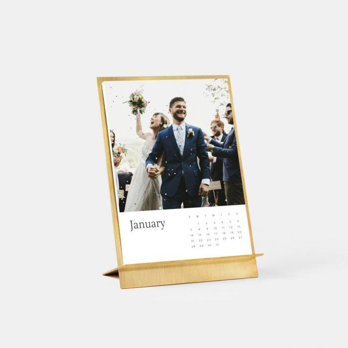 Brass Easel & Calendar