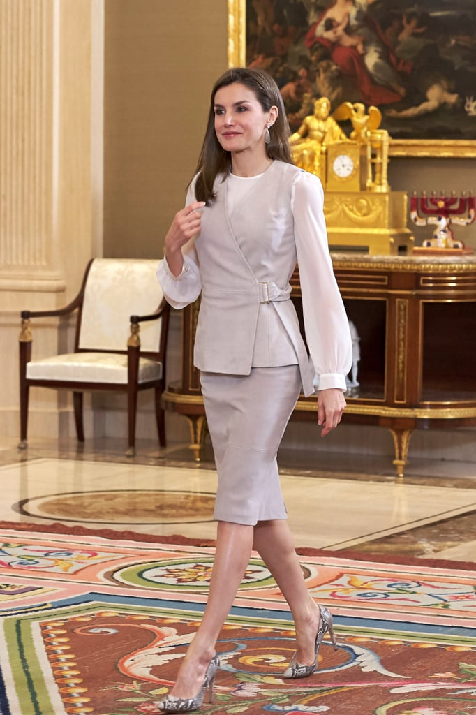 Queen Letizia Is Wearing a Waistcoat and Now We Suddenly Want One Too