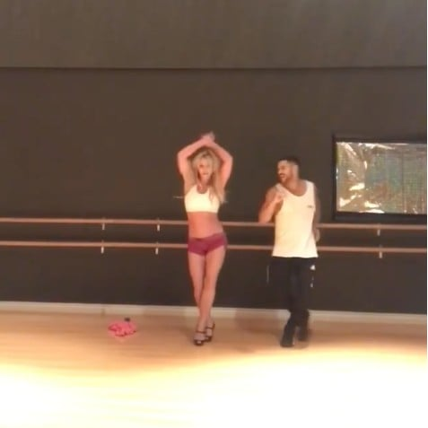 Britney Spears Salsa Dancing Video