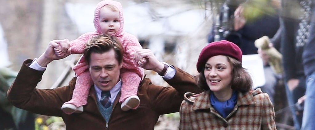 Brad Pitt Is Really, Really Sweet With This Baby on the Set of His New Film