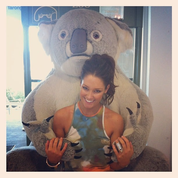 Erin McNaught got a hug from a huge stuffed koala. Source: Instagram User mcnaughty