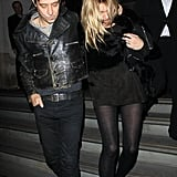 Kate Moss and Jamie Hince left an afterparty for London Fashion Week.