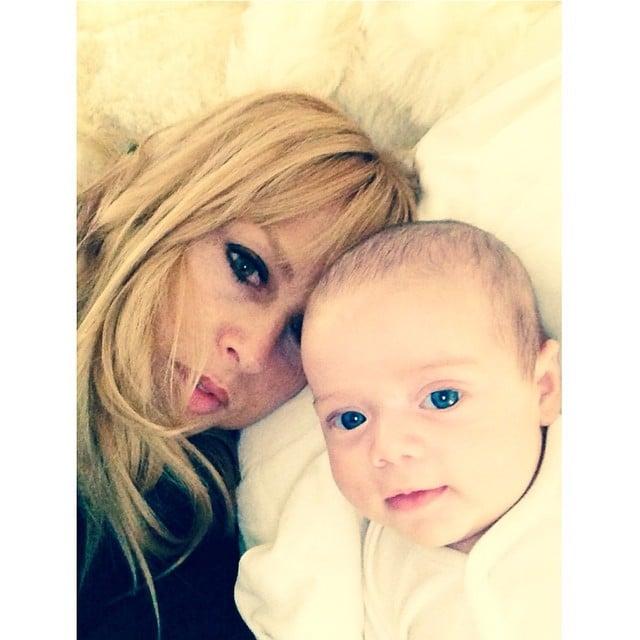 Rachel Zoe showed off baby Kaius's baby blue eyes. Source: Instagram user rachelzoe