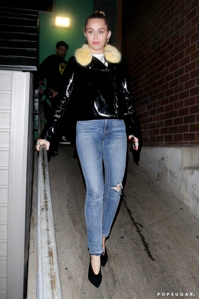 Miley Cyrus Wears Black Glove Pumps March 2019  Popsugar Fashion-2155