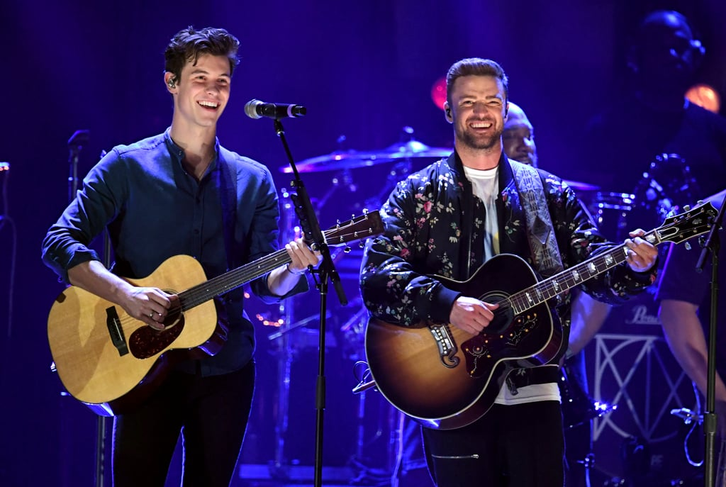 "Two of our favorite heartthrobs just shared the stage, and we've officially lost our chill! During the iHeartRadio Music Festival on Sept. 22, Justin Timberlake surprised the crowd by bringing out Shawn Mendes for a special performance of ""What Goes Around . . . Comes Around,"" and it was just as epic as it sounds. The two showed off their swoon-worthy vocals as they crooned the lyrics to the stripped down version of the song.  Before bringing Shawn on stage, Justin couldn't help but gush about the 20-year-old saying he was ""one of the coolest cats I've met."" And it seems like Shawn was just as star-struck. After their duet, the singer thanked Justin on Instagram writing, ""Thank you @justintimberlake for being such an incredible guy."" Can these two do more music together ASAP?"