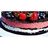 Red, White, and Blue Ice Cream Cake