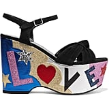 Saint Laurent's Candy Embellished Suede and Leather Platforms ($1,140) are the type to make them stop and stare.