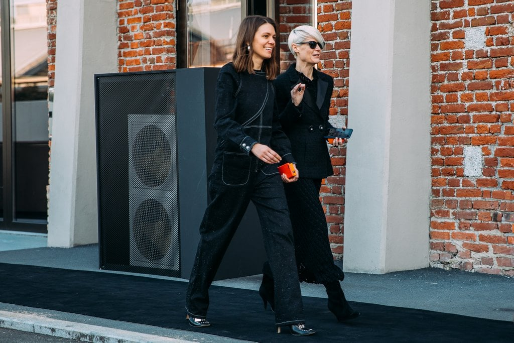 When in doubt, wear all black like Julia Gall and Kate Lanphear.