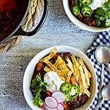 Spaghetti Squash, Sweet Potato, and Black Bean Chili