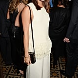 Wearing fringed cream top with matching culottes, Alicia looked a chic treat at Harvey Weinstein's BAFTA Dinner in London.
