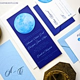 """In astrology, your sun sign dictates your personality, while your moon sign (where the moon was when you were born) represents your emotions. Incorporate the moon into your wedding invitations as a nod to your feelings and desires."" — Amanda Mayer, Athena and Aphrodite"