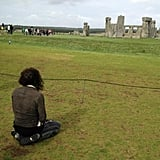 Russell Brand paid a visit to Stonehenge. Source: Twitter user rustyrockets
