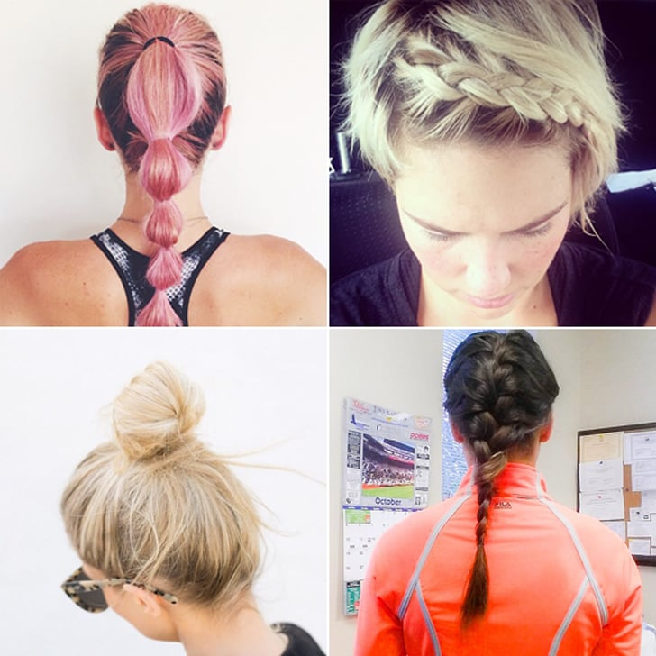Terrific Best Hairstyles For Your Workout Popsugar Fitness Hairstyles For Women Draintrainus