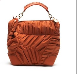 Stella McCartney Pleated Nylon Bag In Orange