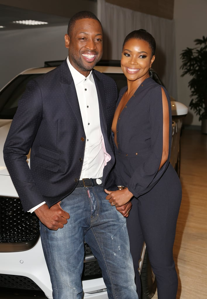 In 2016, Gabrielle struck a pose next to her husband at a car event.