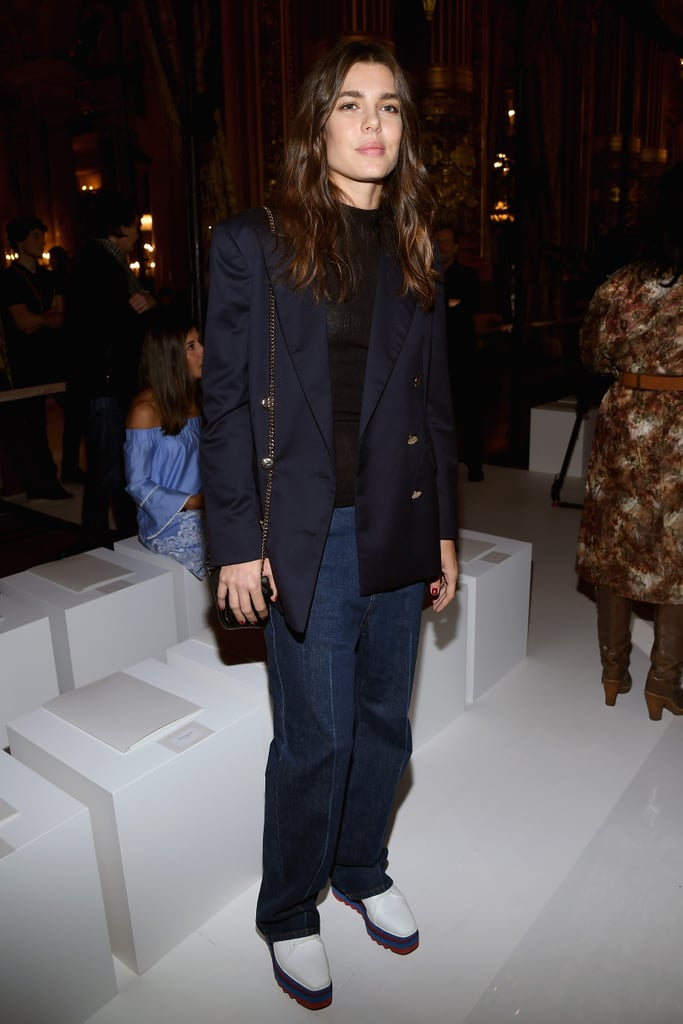 At the Stella McCartney show during Paris Fashion Week in October 2017.