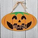 Personalized Jack O' Lantern Door Hanging