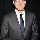 George Clooney made his way into Alice Tully Hall in NYC.