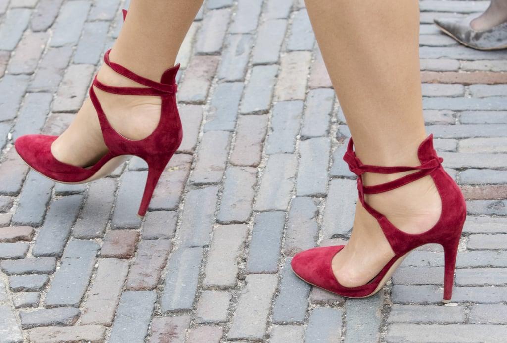Queen Maxima's Red Gianvito Rossi Heels