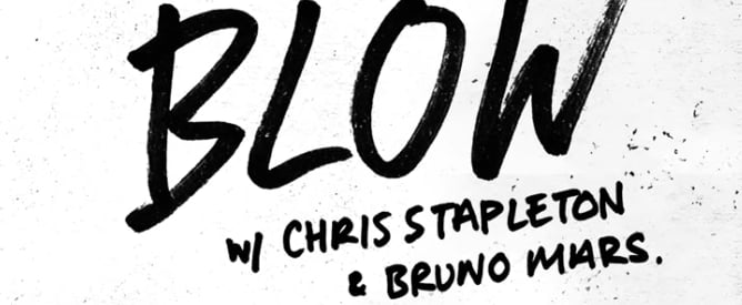 "Ed Sheeran, Bruno Mars, and Chris Stapleton ""BLOW"" Song"