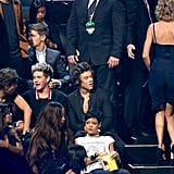 Sprung! Harry Styles was caught checking out ex Taylor Swift's assets inside the MTV VMAs in 2013.