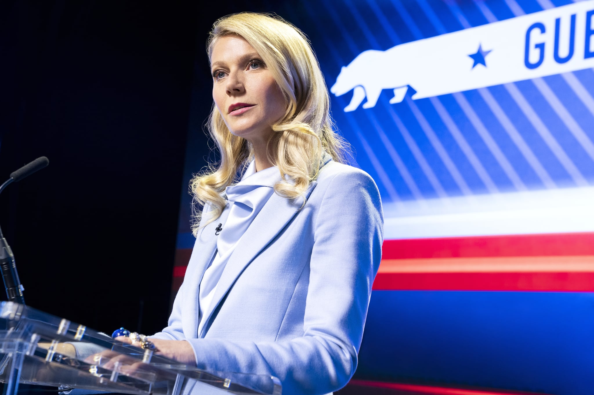 THE POLITICIAN GWYNETH PALTROW as GEORGINA HOBART in episode 201 of THE POLITICIAN Cr. NICOLE RIVELLI/NETFLIX  2020