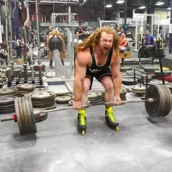 Jon Call Deadlifts 495 Pounds on Rollerblades | Video