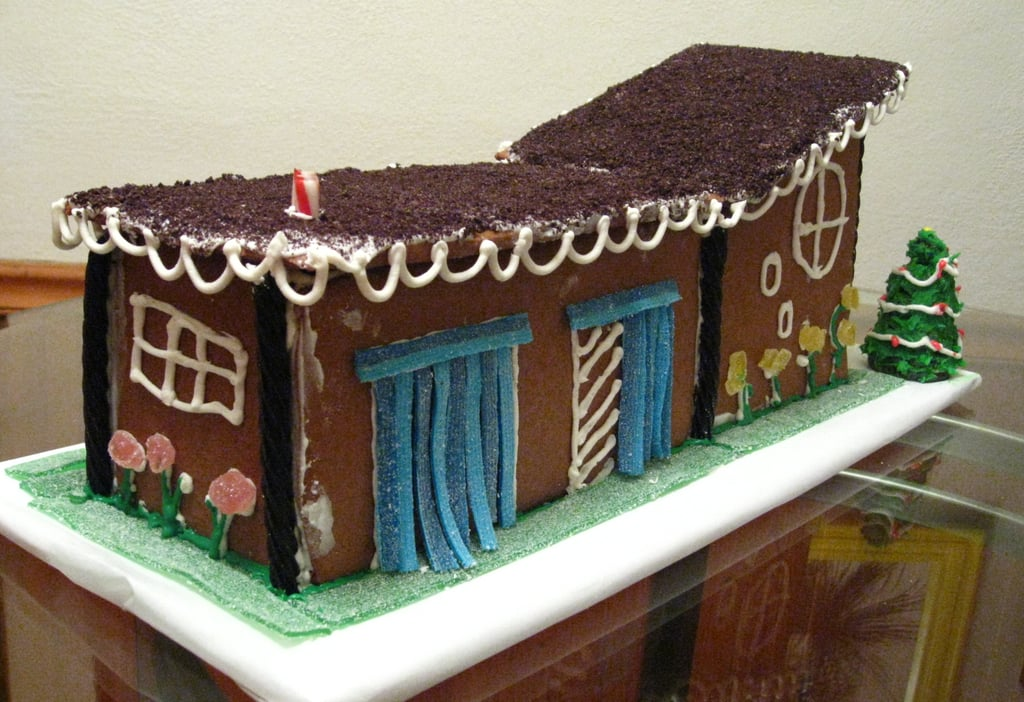 Mid century modern gingerbread house - House and home design