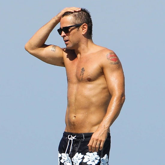 Colin Farrell Shirtless in Mexico