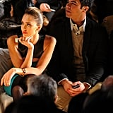 Cash joined Jessica for NYC Fashion Week in February 2012.