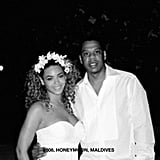 The pair was all smiles during their honeymoon in the Maldives in 2008.