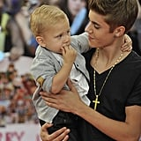 Justin Bieber brought his little brother, Jaxon, to the MuchMusic Video Awards in Toronto.