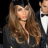 For Halloween 2013, Nicole wore a Catwoman costume . . . and let her glossy mane hang free with a bouncy blow dry.