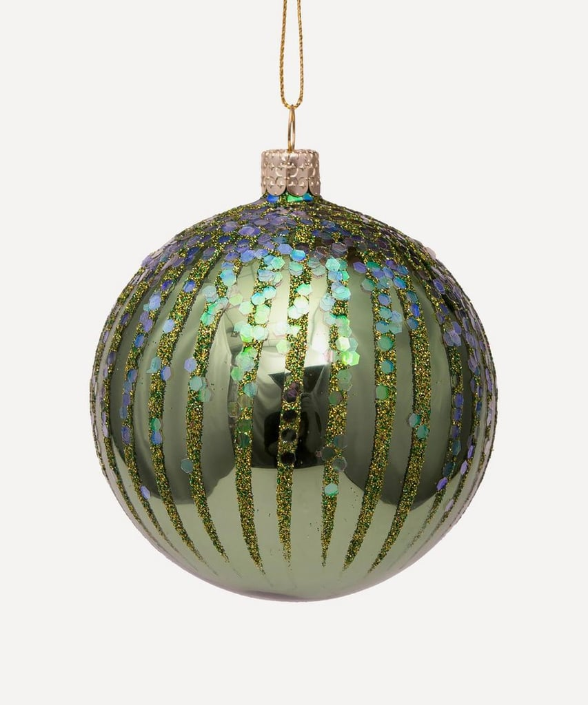Liberty London Glass Shiny Fireworks Bauble