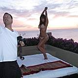 Kim reminisced with another photo shoot, this time with a stunning view. Source: Instagram user kimkardashian