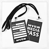 Jess kept a close hold on her access-all-areas media pass for the Myer show on Thursday night.
