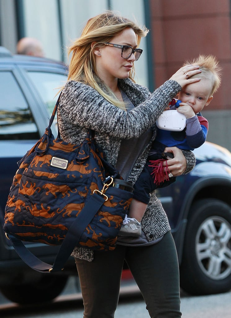 Hilary Duff and Luca had a day out in Beverly Hills.
