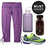This month, it's back to basics. Don a pair of flattering and fun workout capris, tote the water bottle that's a favorite among celebs, and sip a vegan protein shake to perk yourself up on cool almost-Fall mornings. You can even catch the racing bug with products that make those long training runs bearable — supportive shoes, a no-bounce sports bra, and an organic stamina-boosting elixir. Read on to see what's making POPSUGAR Fitness excited to work out this September!