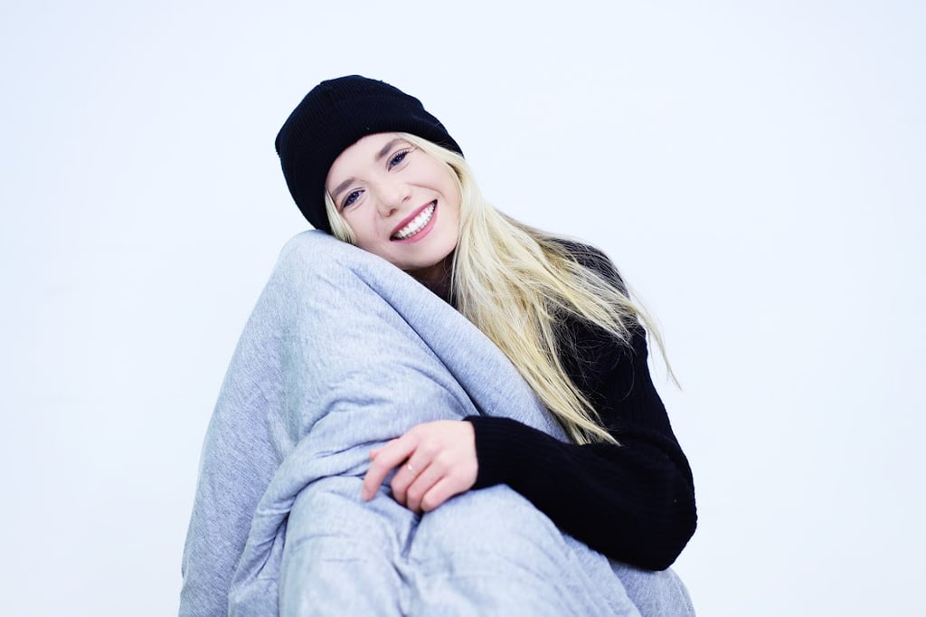 This Moisture-Wicking Weighted Blanket Is the Only Thing Allowed to Touch Us This Summer