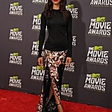 Zoe took the red carpet at the 2013 MTV Movie Awards in this cool-girl play on event wear from the Givenchy Fall 2013 collection.