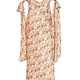 Markarian Faith Bow-Detailed Floral-Print Satin Midi Dress