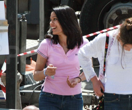 Photo of Freida Pinto Filming Miral