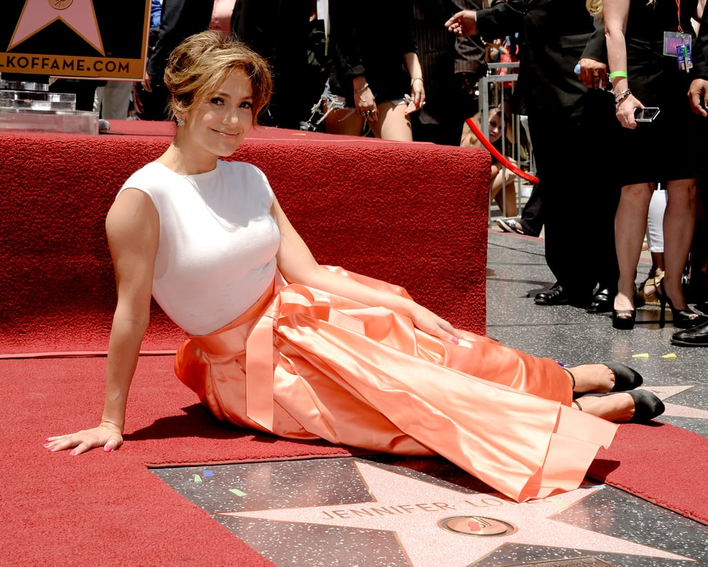 Jennifer Lopez smiled for the cameras as she accepted her star on the Hollywood Walk of Fame in LA on June 20.