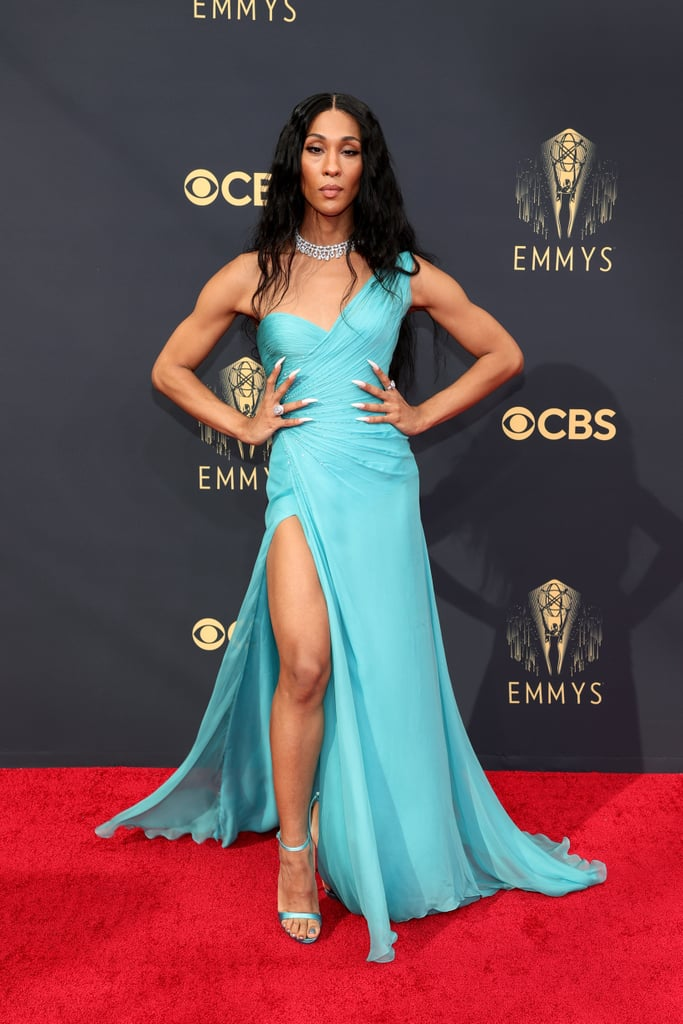 """All eyes were likely on the cast of Pose when they arrived at the Emmys on Sunday night. Billy Porter and Mj Rodriguez were among the first to hit the red carpet, turning it into their own personal catwalk as they showed off their fabulous looks. Billy spread his """"wings"""" in a glamorous black ensemble, while Mj was a vision in a gorgeous teal gown.  It's a big night for the cast of Pose! Not only is the show nominated for outstanding drama series, but Billy is also up for lead actor in a drama series for his role as Pray Tell and Mj is up for lead actress in a drama series for her portrayal of Blanca Evangelista. Mj already made history with her nomination, becoming the first transgender woman to be recognised in a lead acting category at the Emmys, and if she wins tonight, she'll be making history once again. We're wishing the cast of Pose the best of luck!       Related:                                                                                                           Mj Rodriguez Celebrates Historic Emmy Nod Ahead of Ceremony: """"I Am Testimony That It Is Possible"""""""