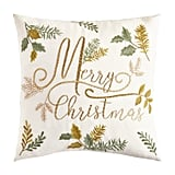 Embroidered Woodland Christmas Pillow