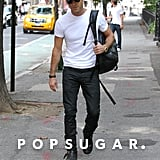 Justin Theroux Out in NYC After Engagement