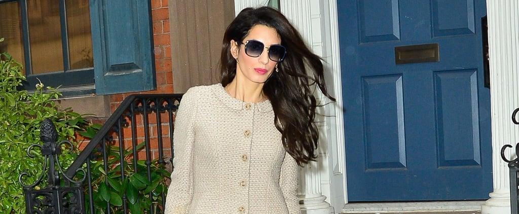 Amal Clooney Tweed Skirt Suit
